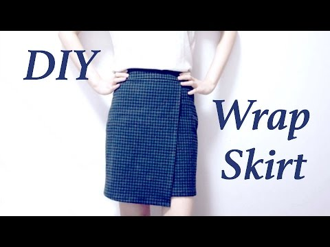 DIY Wrap Skirt // ラップスカートの作り方 / Sewing Tutorialㅣ ...