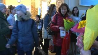 8 марта 2017г. 4 школа г.Обнинск. Поздравления учителей