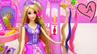 Salón de belleza para peinar a Rapunzel | Muñecas y juguetes con Andre para niñas y niños thumbnail