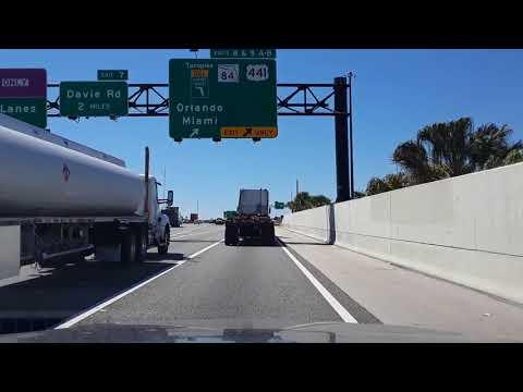 Miami, FL. Driving from Dania Beach to Lauderhill mall