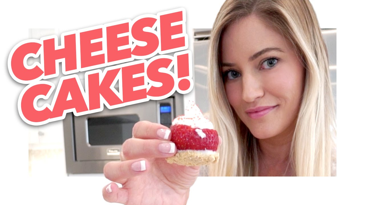 How to make tiny strawberry cheesecakes!