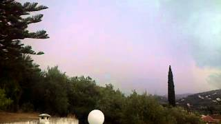 Electrical storm hits Kassiopi Corfu August 2015