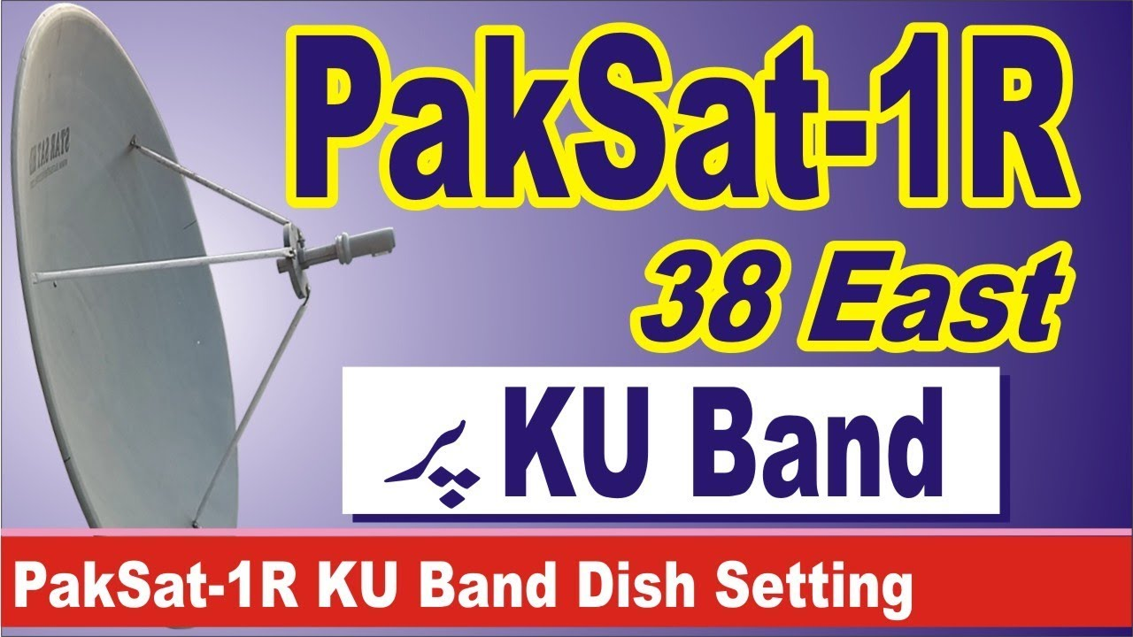 Paksat -1R 38 East KU Band Dish Setting