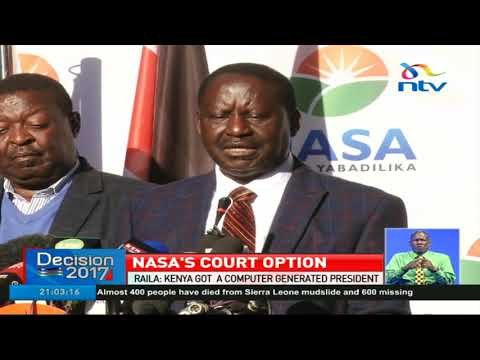 Raila says Kenya got a computer generated president