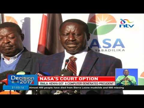 Raila says Kenya got a computer generated president