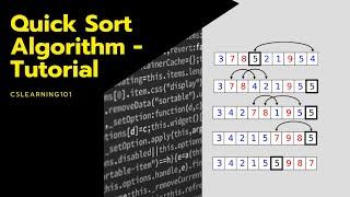 Quick Sort Algorithm - Tutorial