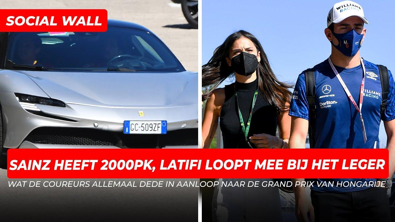 Sainz heeft 2000pk, Latifi loopt mee bij het leger | Social Wall
