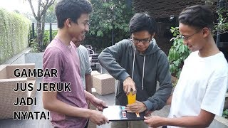 AJAIB! Ngambil Jus Jeruk dari Gambar di Menu. abracadaBRO Magic Prank Indonesia