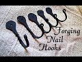 Beginner Blacksmith Projects: Forging a Hook - Horseshoe Nail Crafts