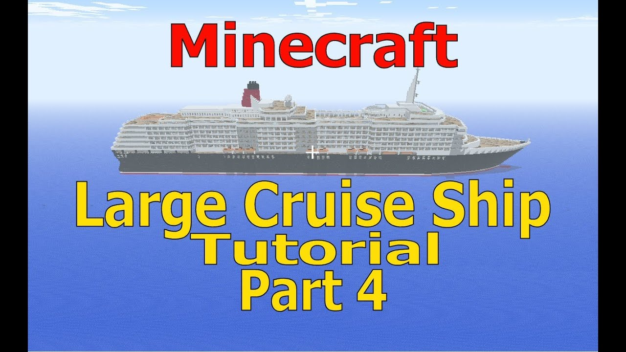 how to build a cruise ship minecraft