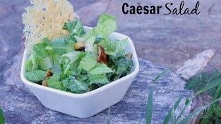 Healthy Caesar Salad With Fried Lemons And Parmesan Crisps