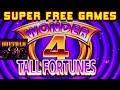 SUPER FREE GAMES! ★ WONDER 4 TALL FORTUNES / BUFFALO GOLD  ➜ Las Vegas Casino