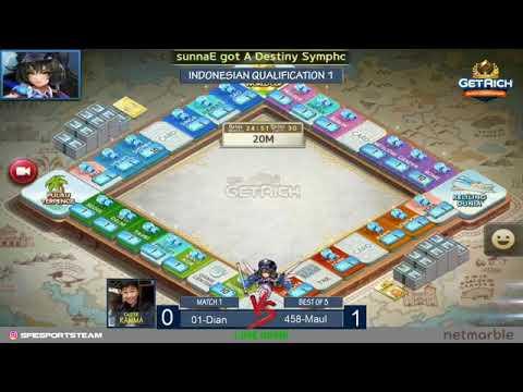 Line Let's Get Rich World Championship LGR-001 Dian [SFI] VS LGR-458  Maulana S