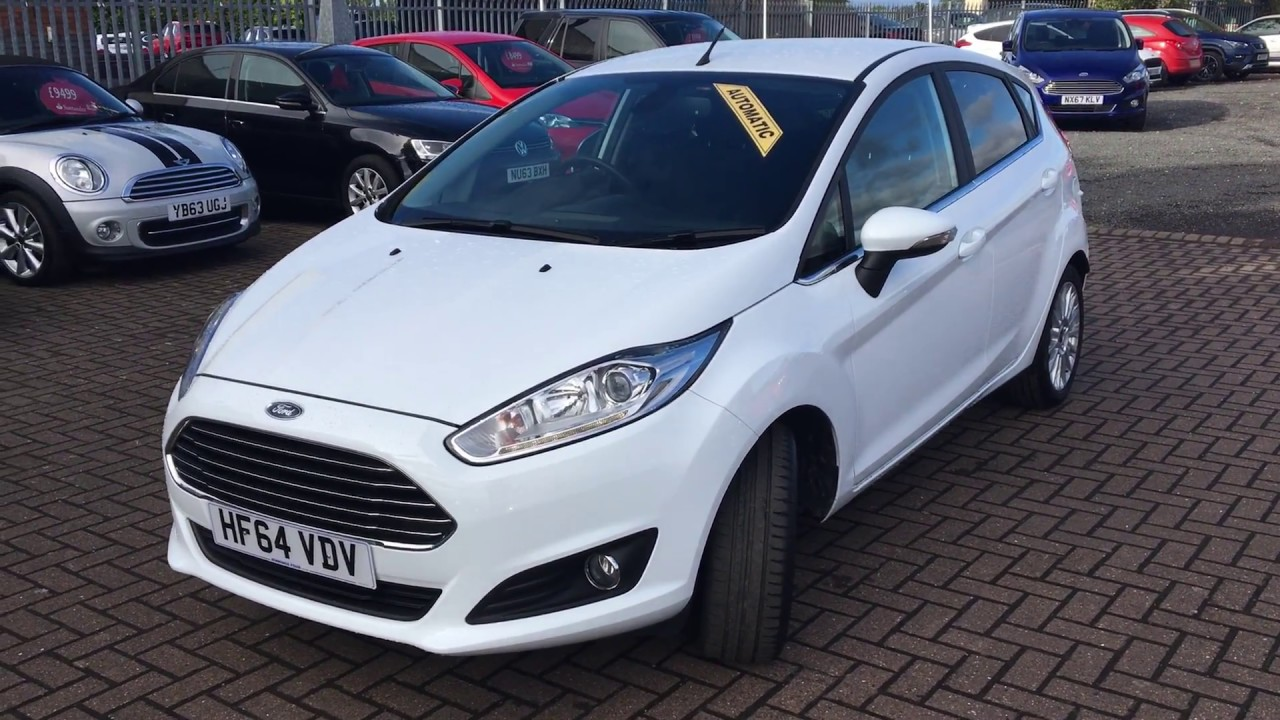 Used ford fiesta 1 6 titanium 5dr powershift white 2014
