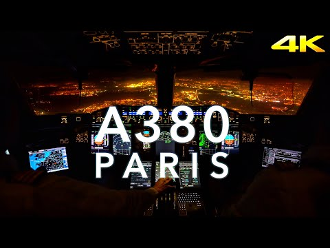 PARIS   A380 LANDING 4K EXTENDED
