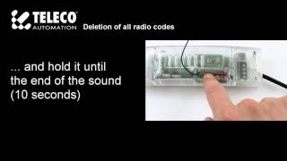 Radio code deletion