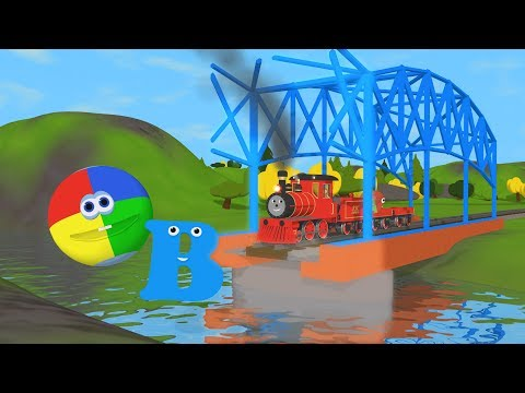 Learn About The Letter B - The Alphabet Adventure With Alice And Shawn The Train