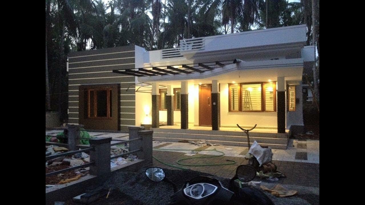 Low Budget Contemporary Single Floor Home Design Hello Homes