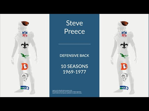 Steve Preece: Football Defensive Back