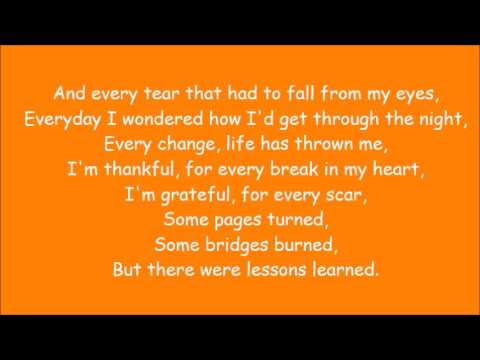 Carrie Underwood ~ Lessons Learned (Lyrics)