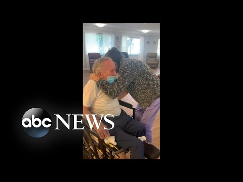 Elderly couple married for 60 years reunites after 200 days apart due to COVID-19   WNT