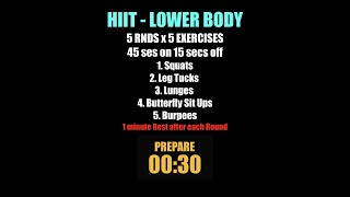 Week 13   HIIT Lower Body