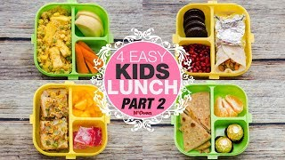 4 INDIAN LUNCH BOX IDEAS PART 2 l KIDS LUNCH BOX RECIPES l KIDS TIFFIN l VEG LUNCH BOX