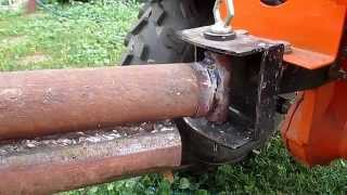 Сцепка для прицепа  мотоблока(труба в трубе)