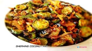 Dondakaya Kobbari Vepudu - Gherkins Coconut Fry - Telugu Vantalu