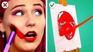 9 Creative & Fun Art Hacks And Crafts! DIY Drawing & Painting Ideas