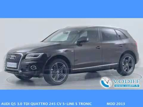 vodiff audi occasion alsace audi q5 3 0 tdi quattro 245 cv s line s tronic mod 2013 youtube. Black Bedroom Furniture Sets. Home Design Ideas