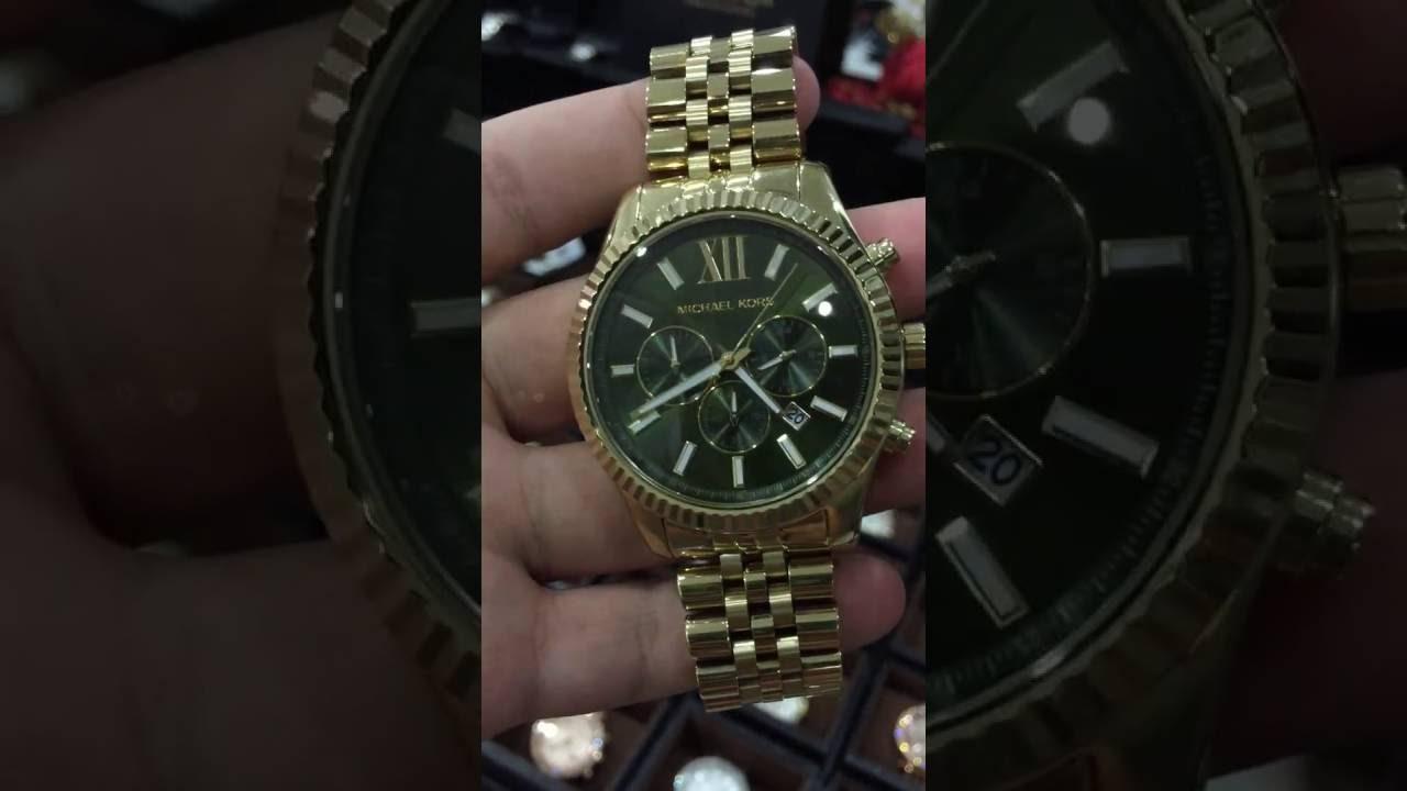3604fb89d533 Michael Kors Men s MK8446 Lexington Gold-Tone Watch - YouTube