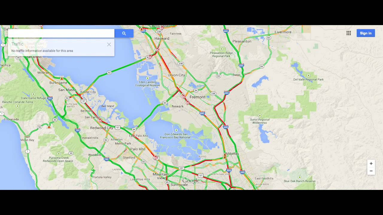Time Lapse Video Of Bay Area Traffic Youtube