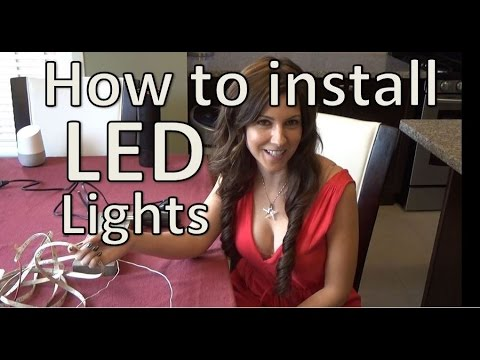 How to install LED Strip Lights – Under Cabinet LED Strip