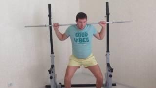 видео Стойки для приседа — как сделать своими руками