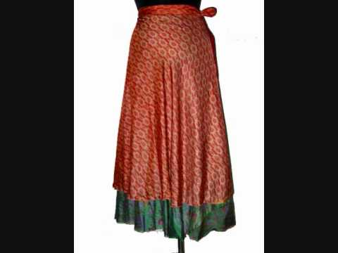 Silk Multi Wear Double Layered Indian Wrap Around Skirts
