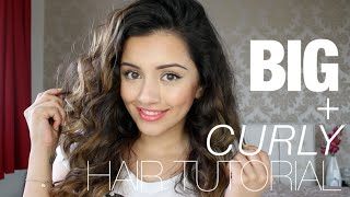 Tutorial | BIG CURLY HAIR TUTORIAL | Kaushal Beauty Thumbnail