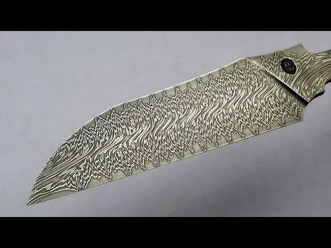 Dragon's Breath Damascus Steel, making a blade.