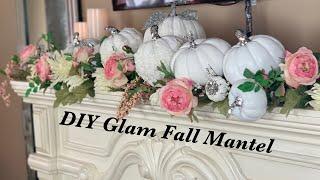 Fall Decor 2019 | DIY GLAM FALL MANTEL DECOR