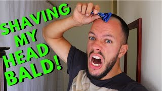 HOW TO SHAVE YOUR HEAD BALD WITH A RAZOR   Clipper & Razor Sound