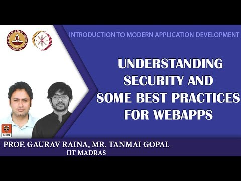 Module 14: Understanding security, and some best practices for webapps
