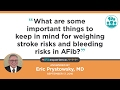 Anticoagulation and risk of bleeding with Atrial Fibrillation