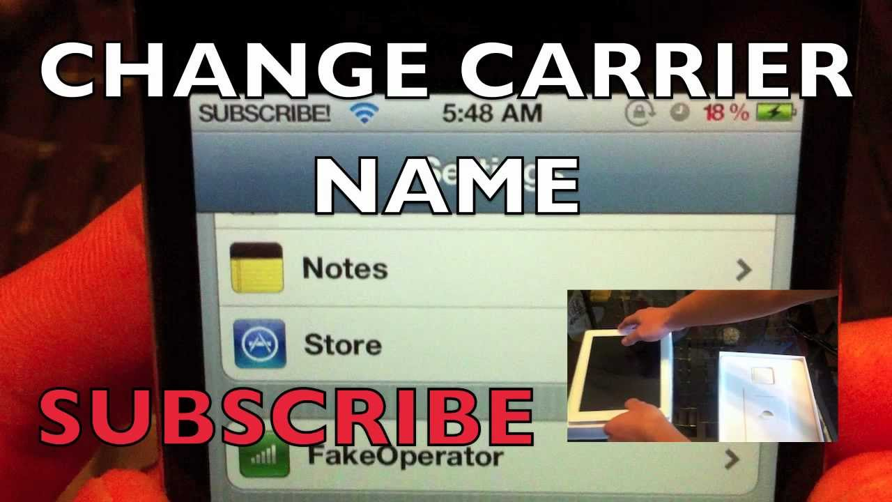 change iphone name change carrier name iphone 4s 4 3gs 3g ipod touch 4g 10359