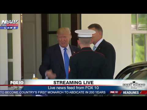 WATCH: President Trump Welcomes President Klaus Iohannis of Romania to White House (FNN)