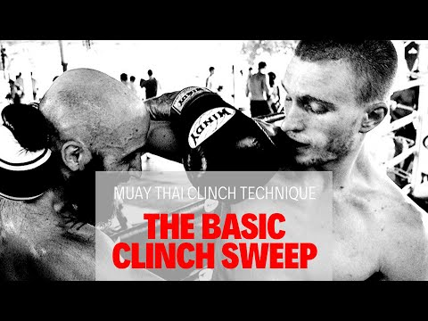 Muay Thai Clinch Techniques - A Basic, Simple Clinch Sweep