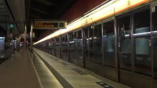 【*劃破夜空】港鐵東涌綫列車不載客駛經荔景站三號月台 (東涌尾車後)