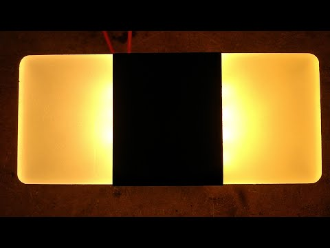 Cleverly Designed LED Wall Light With Hackability.