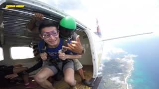 檀香山 夏威夷跳傘初體驗 影片
