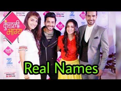 Real life names of Kundali Bhagya Cast 😊|Offspin of Kumkum ...