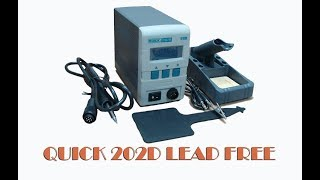 QUICK 202D LEAD FREE SOLDERING STATION - Распаковка